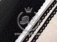 Кружево вязаное 1.1 см, черное