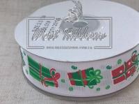 Репс 2.5 см подарки на белом