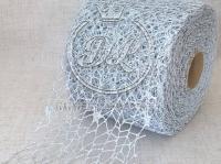 Сетка декоративная (новогодняя), серебро