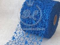 Сетка декоративная (новогодняя), синяя