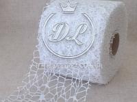 Сетка декоративная (новогодняя), белая
