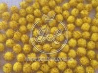 Помпоны 1.5 см. с люрексом, желтые (золото) (1000 шт.)