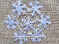 Фетровые снежинки 3 см, белые F008